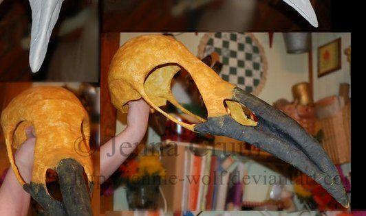 Diy Crow Skull Mask using cardboard , duct tape, foam ...