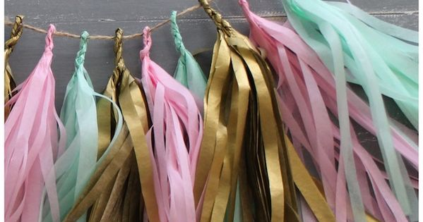 DIY: Confetti System Inspired Tissue Paper Tassel Garland 5th bday party garland!