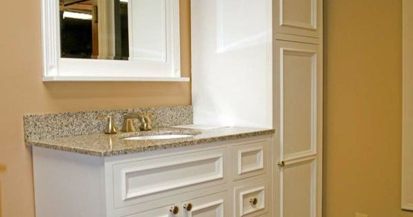 for small bathroom cabinets floor to ceiling at end of