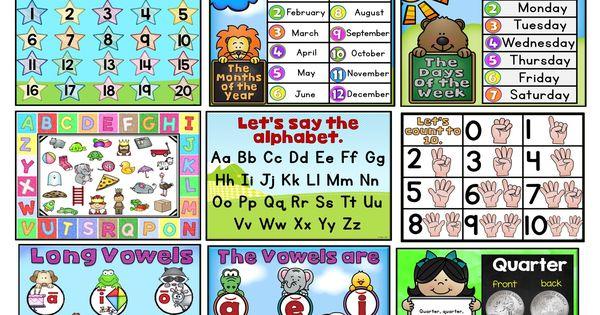 Kindergarten Calendar For Promethean Board : Kindergarten basic skills promethean board flipchart