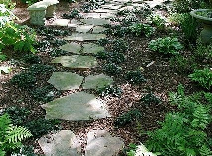 Inexpensive walkways and paths landscaping ideas on a for Walkway ideas on a budget