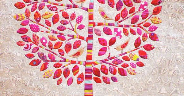 PATTERN - Lilly Pilly - raw edge applique quilt PATTERN ...