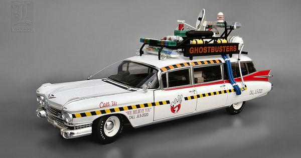 ghostbusters ghostbusters 39 ecto 1a 1959 cadillac. Black Bedroom Furniture Sets. Home Design Ideas