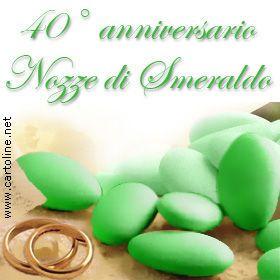 Anniversario 40 Anni Matrimonio.Nozze Di Smeraldo 40 Anniversario Di Matrimonio Anniversario Di