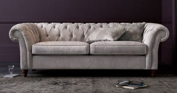 buy gosford buttoned large sofa 3 seats antique velvet mid dove low turned light from the. Black Bedroom Furniture Sets. Home Design Ideas