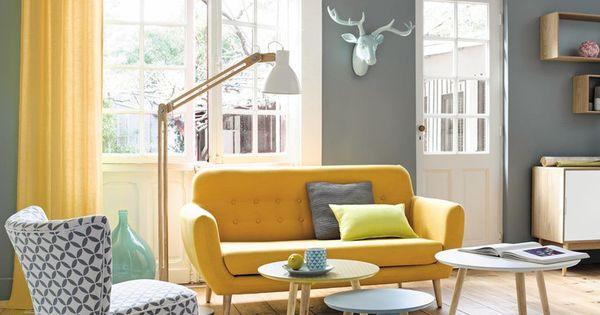 gelb und grau sind ein perfektes paar f r ein skandinavisches wohnzimmer wohnzimmer. Black Bedroom Furniture Sets. Home Design Ideas