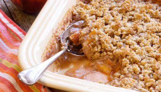 Easy Peach Crisp (Vegan, Paleo) « Detoxinista