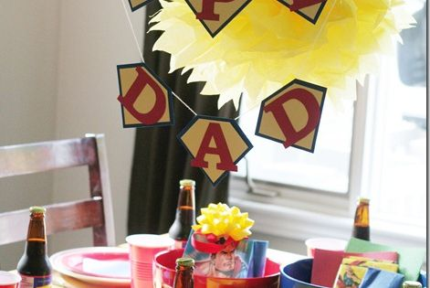 Super Dad dinner idea for Father's Day (love the Dad's root beer)