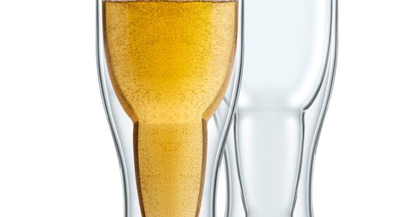 2 Pack Bottoms-Up Beer Glass (Gift Box) - Beyond the Rack //