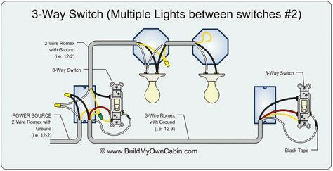 3 Way Switch Diagram Multiple Lights Between Switches Light Switch Wiring 3 Way Switch Wiring Three Way Switch