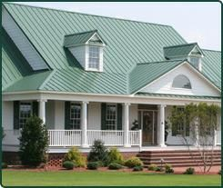 How To Choose The Color Of Your Metal Roofing Green Roof House Metal Roof Houses Tin Roof House