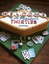 Pleasing Las Vegas Themed Birthday Cake Vegas Theme Party Vegas Birthday Personalised Birthday Cards Petedlily Jamesorg