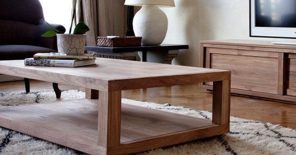 Table basse teck duplex ethnicraft 1 ethnicraft pinterest for Table basse ethnicraft