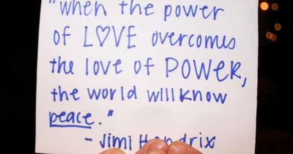 jimi hendrix - one of my favorite quotes