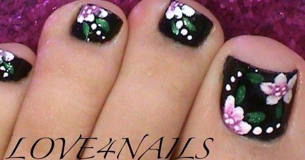 black toe nail designs - Google Search