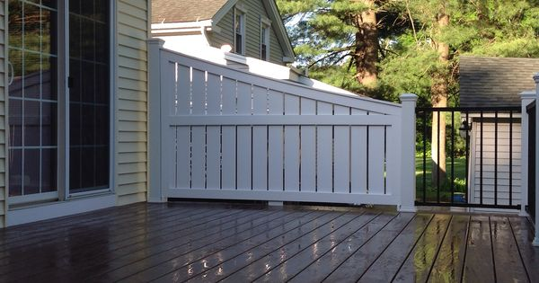 Vinyl Deck Privacy Deck Privacy Made From Azek Trex