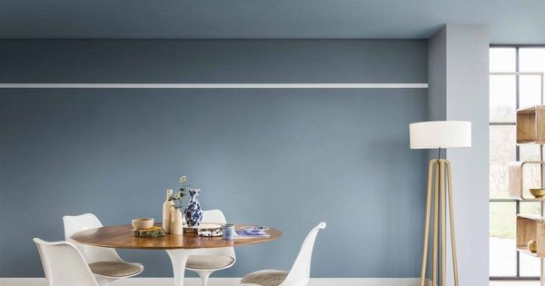 Denim drift dulux paint colour of the year 2017 eethoek kleur en slaapkamer - Kleur trendy restaurant ...