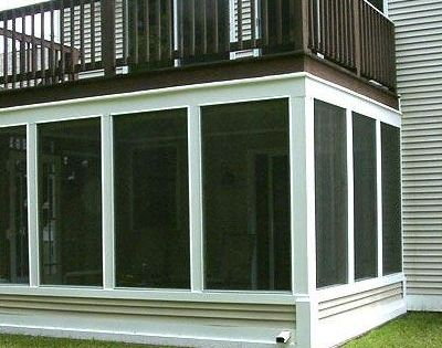 screen porch under existing deck archadeck outdoor living of west rhode island - Patio And Deck Designs