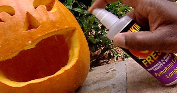 Need to remember this! Make that Carving Last - Spray a mixture