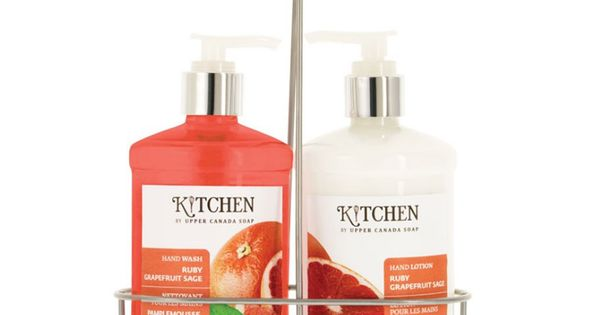 Upper canada soap kitchen hand wash lotion caddy ruby Hand wash and lotion caddy