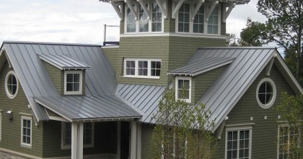 Homes With Silver Metal Roofs Metal Roofing Garden Michigan Metal Roof Houses Tin Roof House House Exterior
