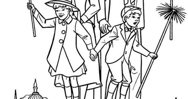 Mary Poppins Dibujos Para Colorear: Coloring Page Mary Poppins: Mary Poppins