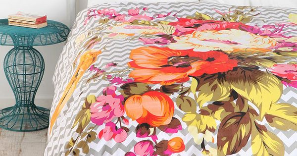 Need this duvet. urbanoutfitters Plum & Bow Graphic Bouquet Duvet Cover