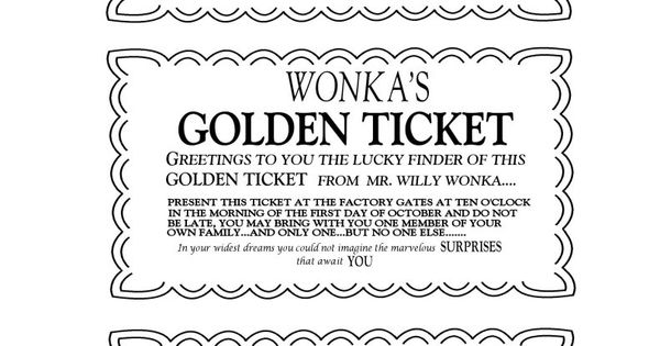 golden ticket template editable - willy wonka golden ticket invitations charlie and the