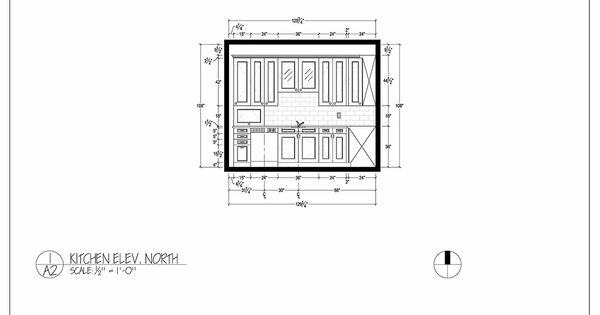 Floor Elevation Technique : Kitchen elevation dimensional b w drawing for client