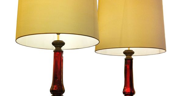 Serge Roche Exceptionnal Pair Of Mercury Red Glass Table Lamps France 1940 S Serge Roche Pair Of Mercury Red Glass Pair O Lamp Vintage Table Lamp Table Lamp