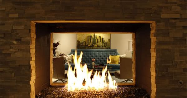 outdoor fireplace 2 sided the two sided fireplace frames the living room on the other side cave pinterest home design architecture and home