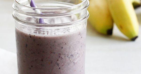 Very Berry Banana Fro Yo Shake | Frozen yogurt, Frozen and Milk shakes