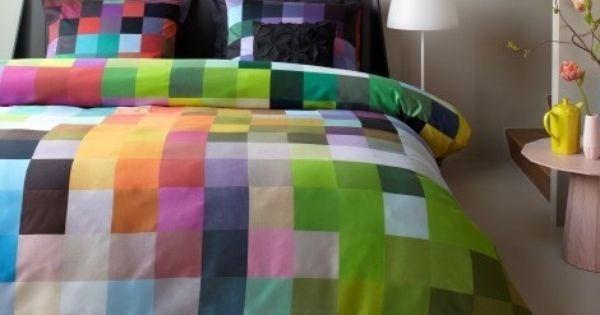Slaapkamer Kleur Lila : Zoom dekbedovertrek. Kleur multi, geel, groen ...
