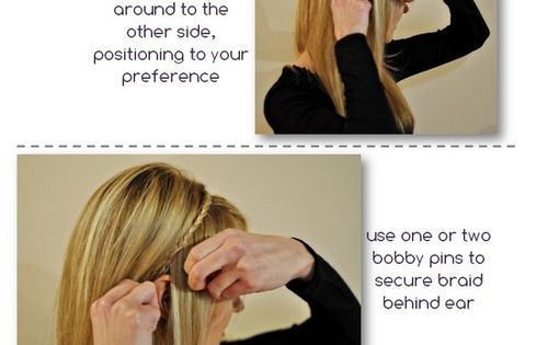 Tutorial : Braid Hair into a Head Band hair hairstyle hairdo braid