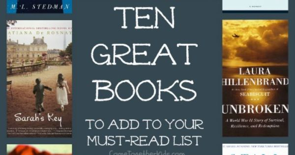 Great Books for a Book Club (or just to read yourself)!... adding