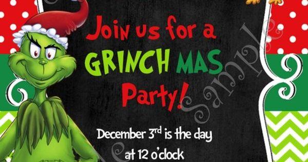 Grinch Christmas Party Invitation Free Grinchmas Card
