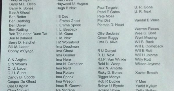halloween tombstone names scary