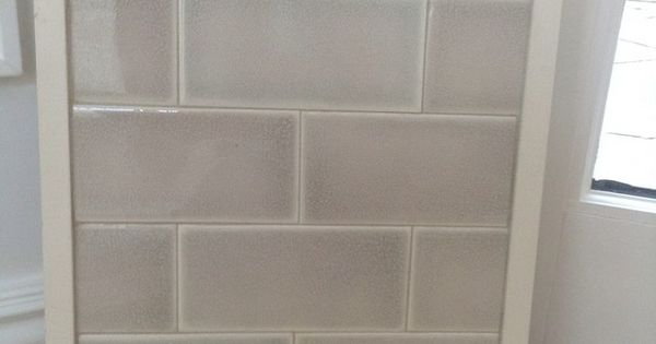 Very Light Blue Or Gray Subway Tile In Glass Kitchens