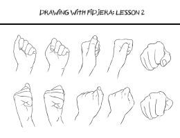 Drawing With Fidjera Lesson 2 By Fidjera How To Draw Hands Hand Reference Sketch Book