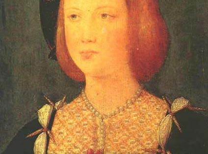 Jean Perréal (French artist, c 1451-c 1531) MaryTudor Princess of England, Queen