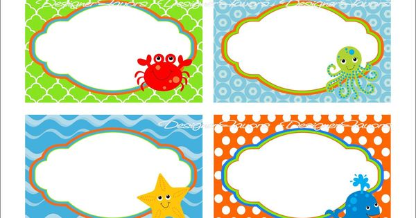 Free Printable Under The Sea Food Labels