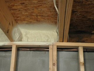 Insulate Band Board Rim Joist To Block Air Infiltration Into A Basement Basement Ceiling Insulating Basement Walls Basement Insulation