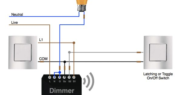 Way wiring on off control with the fibaro dimmer