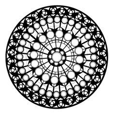 Rose Window Tattoo Google Search Mandala Coloring Pages