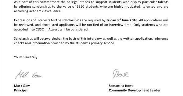 scholarship application letters free word pdf documents download - free expense reports