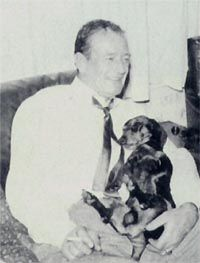 Happy Birthday John Wayne And His Dachshund The Best Dog In The