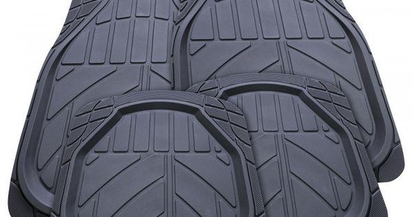 Streetwize Floor Mats Denver Set 4 Black Rubber Deep Dish Autobarn In 2020 Black Rubber Floor Mats Rubber Floor Mats