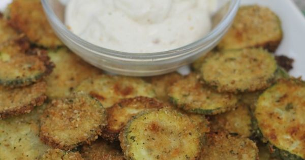 Oven baked parmesan zucchini chips recipe- part of the kids in the
