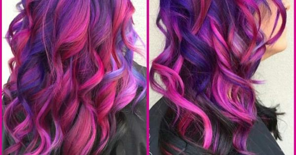 Purple Pink Dyed Hair With Black Underneath Xostylistxo