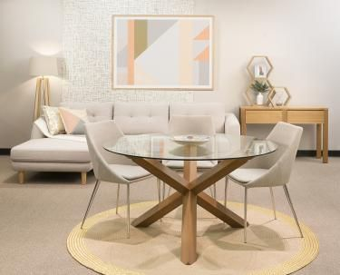 Cowell Glass Round Dining Table Dining Table Small Space Dining Room Small